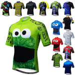 Load image into Gallery viewer, Weimostar Top Green Cycling Jersey Funny Men's Bikewest.com