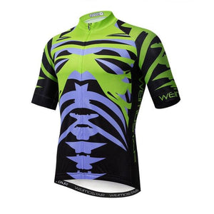 Weimostar Top Green Cycling Jersey Funny Men's Bikewest.com Style 11 XL