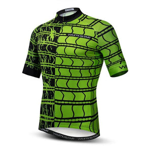 Weimostar Top Green Cycling Jersey Funny Men's Bikewest.com Style 12 M