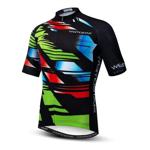 Weimostar Top Green Cycling Jersey Funny Men's Bikewest.com Style 14 M