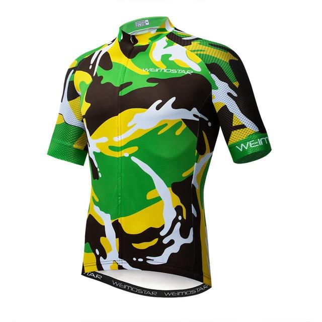 Weimostar Top Green Cycling Jersey Funny Men's Bikewest.com Style 15 M