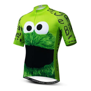 Weimostar Top Green Cycling Jersey Funny Men's Bikewest.com Style 2 M