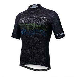 Weimostar Top Green Cycling Jersey Funny Men's Bikewest.com Style 5 M