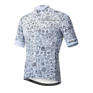 Weimostar Top Green Cycling Jersey Funny Men's Bikewest.com Style 6 M