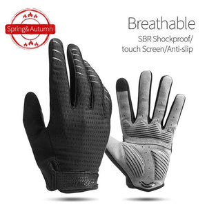 Windproof Cycling Gloves Full Finger Sport Riding MTB Bike Gloves Bikewest.com 91039 Black S China