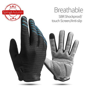 Windproof Cycling Gloves Full Finger Sport Riding MTB Bike Gloves Bikewest.com 91039 Blue L China