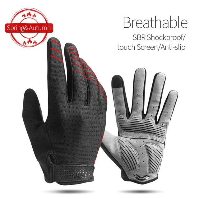 Windproof Cycling Gloves Full Finger Sport Riding MTB Bike Gloves Bikewest.com 91039 Red L China