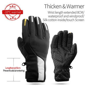 Windproof Cycling Gloves Full Finger Sport Riding MTB Bike Gloves Bikewest.com 91050 Winter Black XXL China