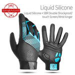 Load image into Gallery viewer, Windproof Cycling Gloves Full Finger Sport Riding MTB Bike Gloves Bikewest.com 91053 Blue Autumn XXL China