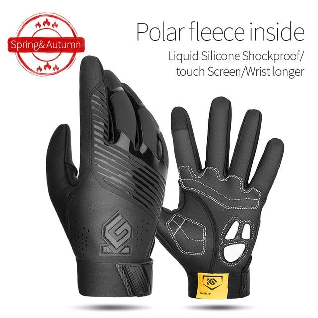 Windproof Cycling Gloves Full Finger Sport Riding MTB Bike Gloves Bikewest.com 91055 Black Winter XXL China