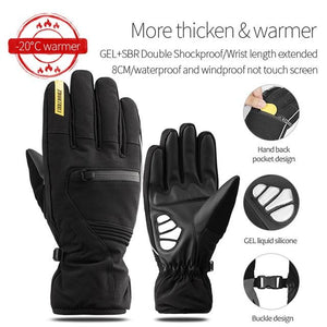 Windproof Cycling Gloves Full Finger Sport Riding MTB Bike Gloves Bikewest.com 91057 Winter Black L China