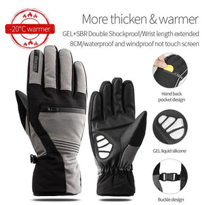 Windproof Cycling Gloves Full Finger Sport Riding MTB Bike Gloves Bikewest.com 91057 Winter Gray S China