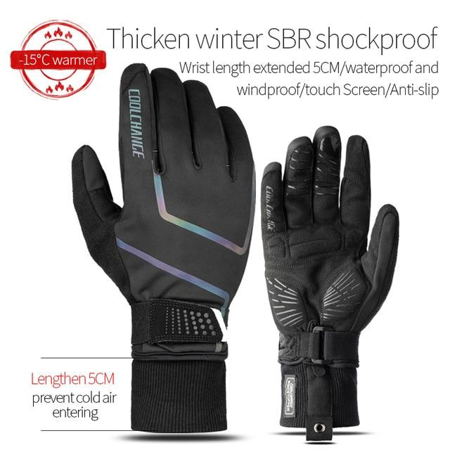 Windproof Cycling Gloves Full Finger Sport Riding MTB Bike Gloves Bikewest.com 91059 Winter Black XXL China