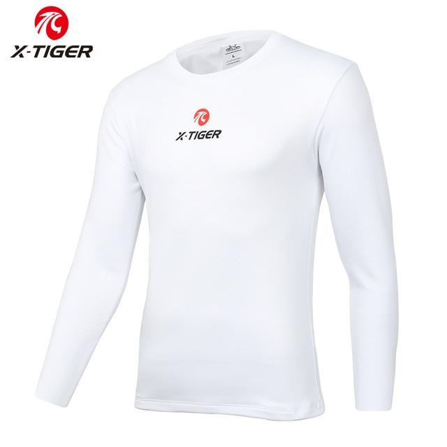 Winter Long Sleeve Cycling Base Layer Underwear Bikewest.com White M