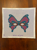 Teal Butterfly Masquerade Mask
