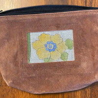 Self Finishing Suede Cosmetic Bag