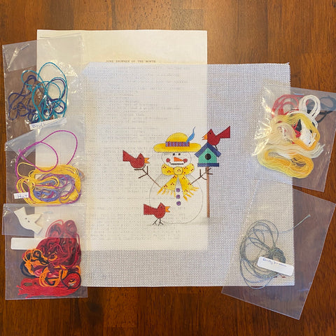 June Snowman Club Kit from Lis Fay