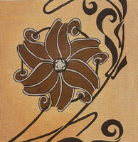 Brown Floral Pillow