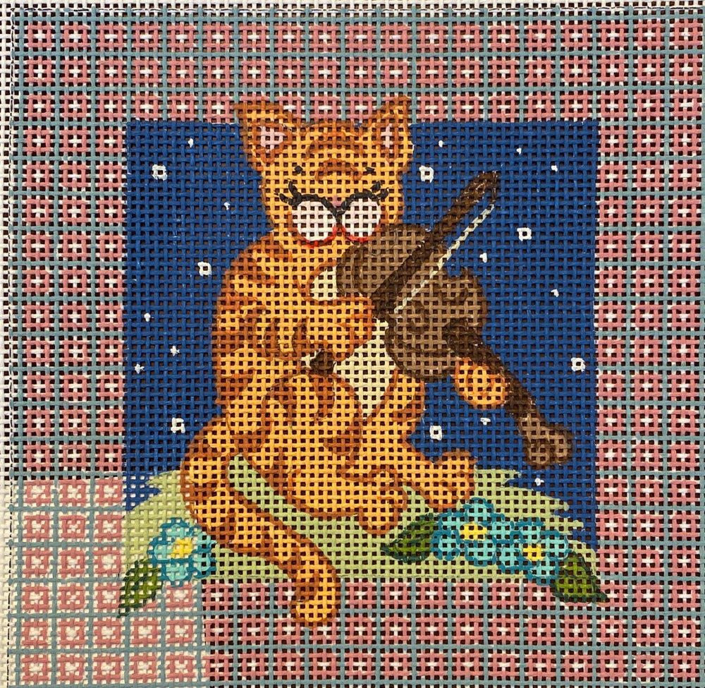 Cat Playing Fiddle