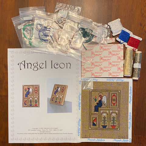 Angel Icon kit from Fireside Stitchery