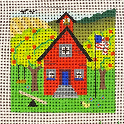 Schoolhouse on Congress Cloth