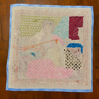 Woman on Couch - partially stitched