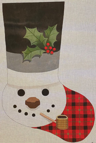 Snowman in Tophat Stocking