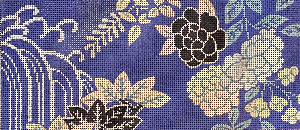 Floral on Periwinkle