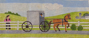 Amish Buggy with stitching