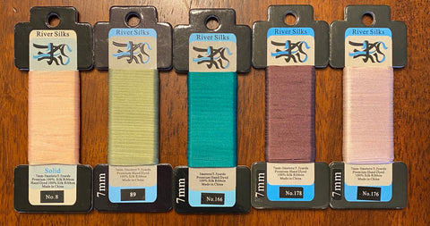 5 Cards of 7mm Ribbon