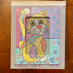 Patchwork Kitty with Frame
