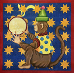 *LARGE* Monkey with Tambourine