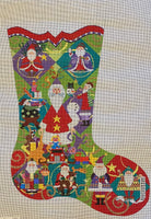 Believe in Santa Stocking with stitch guide