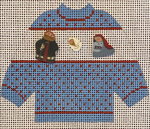 Holy Family Sweater with Embellishments