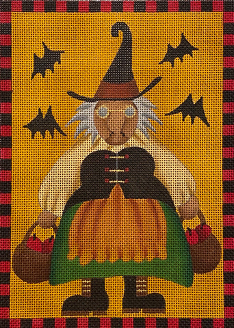 Witch with Baskets of Apples