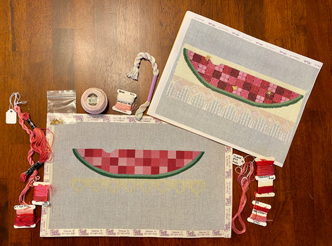 Watermelon Time with stitch guide and threads
