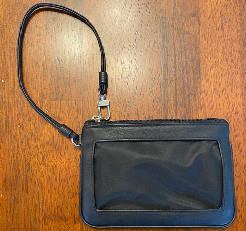 Self Finishing Leather Wristlet