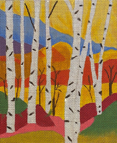 Seasonal Birches - Fall