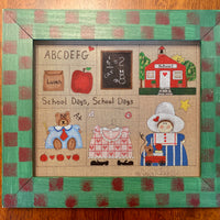 School Days canvas and frame