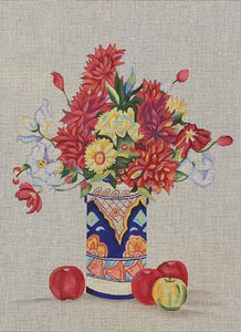 Floral with Apples