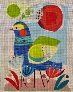 Blue Bird with stitch guide