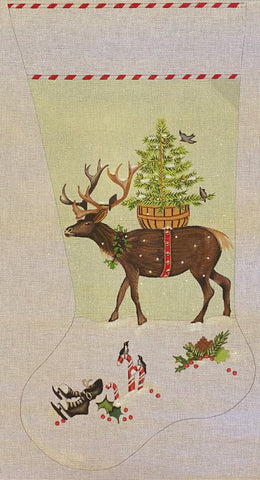 Mary Lake Thompson Reindeer Stocking