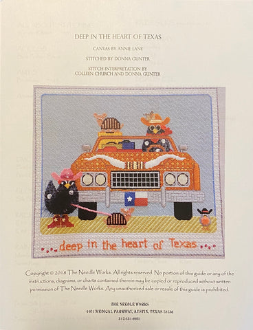 """Deep in the Heart of Texas"" stitch guide ONLY"