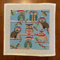 Holiday Owls - some stitching