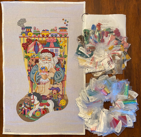 Toymaker Stocking - partially stitched, incl threads and guide