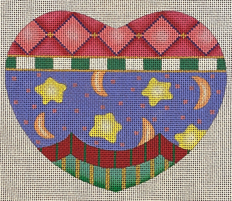 Patterned Heart with Stars