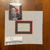 Black and Red Frame with stitch guide