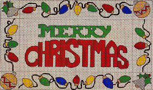 Merry Christmas Mini Pillow with stitch suggestions