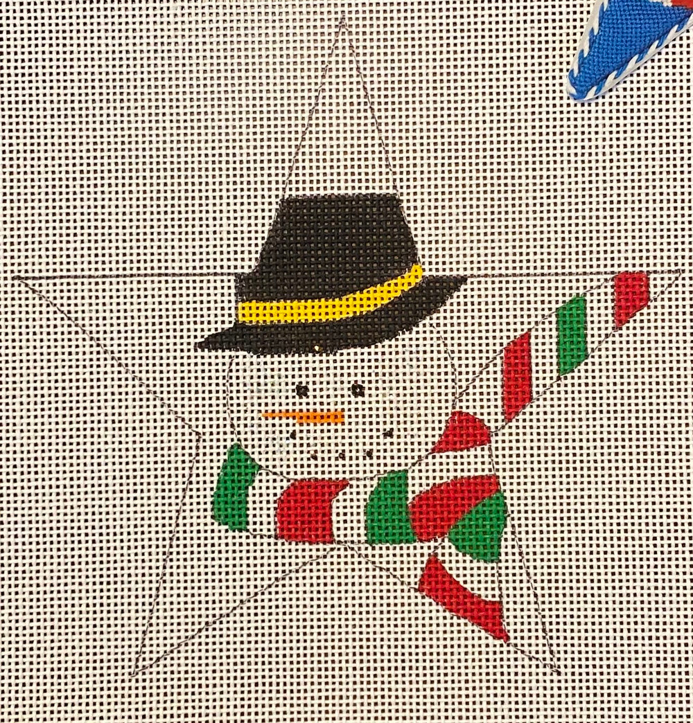 Frosty in a Star with stitch guide