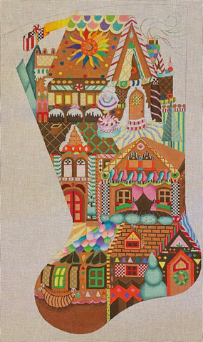Gingerbread Village Stocking